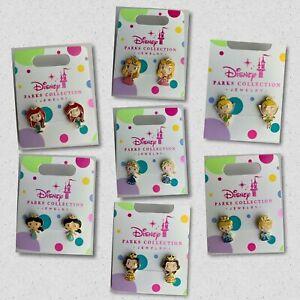 Disney Parks Princess Pierced Earrings Jewelry Girls Elsa Belle Tinker Bell ETC