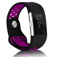 For Fitbit Charge 2 Replacement Silicone Wristband Wrist Strap Watch Band Purple