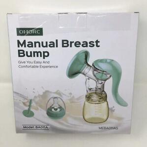 Omork Manual Breast Pump  Silicone Breastmilk Pump with Lid Model BAO11A