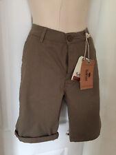 Mens Bellfield Chino Shorts Khaki Size 32 Brand New