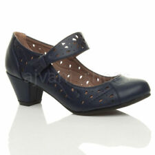 Scarpe da donna Mary Jane blu in pelle sintetica