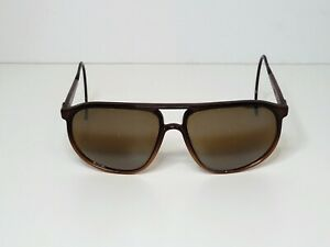 Vuarnet PX Sunglasses Brown Cable Hook Aviator Made in France