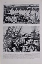 1897 BOER WAR FRENCH NAVY ON BOARD THE SUCHET AT WORK IN THE COURONNE SAILORS