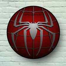 Grande logo Spiderman quadro TARGA kids Room USA Retrò Segno WALL ART SUPERHERO