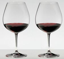 Riedel Vinum Pinot Noir Burgundy Red 2 Piece Red Wine Glass Set 6416/07 NEW