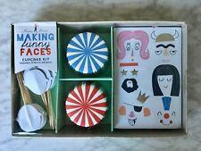 Meri Meri Cupcake kit ( Making Funny Faces ) Baking Paper Cups