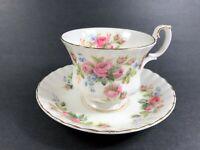 Royal Albert MOSS ROSE Teacup & Saucer Fragrance Series Bone China, England