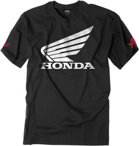 Factory Effex Licensed Honda Big Wing T-Shirt Black Mens All Sizes