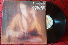JOSE LUIS PERALES ** Lo Mejor ** VERY RARE 1985 Mexican LP CAMILO SESTO RAPHAEL