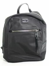 DKNY Handbag Purse Black Silver Nylon Solid Gigi Lightweight Backpack $168- #083