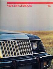 Mercury Marquis 1985 USA Market Sales Brochure Sedan Brougham Wagon