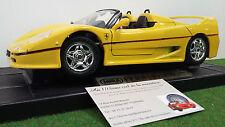 FERRARI F50 Barchetta cabriolet 1995 jaune 1/18 MIRA 6924 voiture miniature coll
