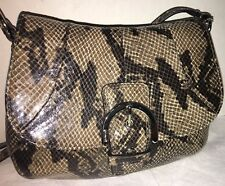 NWOT Coach Cross-Body Exotic Python Soho Flap Grey Black Purse Handbag MSRP $198