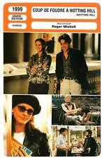 FICHE CINEMA : COUP DE FOUDRE A NOTTING HILL - Grant,Roberts,Michell 1999