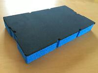 Koffereinlage aus Hart-Schaumstoff für Sortimo L-BOXX Mini grau-blau 30mm