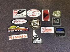 12 Fly Fishing Stickers #12B Scott Simms G3 Lamson Orvis Yellow Dog Renzetti