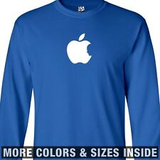 Steve Jobs Tribute LONG SLEEVE T-Shirt - Apple Bite Silhouette Memorial Shadow
