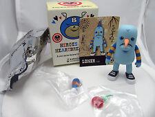 """Heroes & Heartbreakers """"Loner"""" Kidrobot Dunny (1/20) Ryan Bubnis *Blue Variant"""