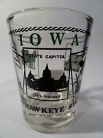 IOWA SCENERY GREEN SHOT GLASS SHOTGLASS