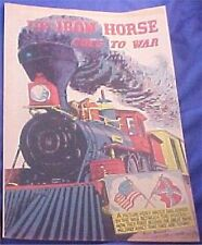 THE IRON HORSE GOES TO WAR AMERICAN RAILROAD RARE GIVEAWAY PROMO COMIC 1960 VFNM