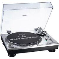 Audio Technica AT-LP 120 USB Plattenspieler Silber
