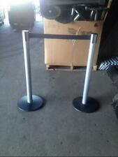 Stanchions Crowd Control Posts Lot 14 Used Store Fixtures Line Customer Divider