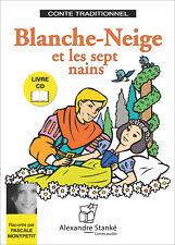 BLANCHE NEIGE ET LES SEPT NAINS - LIVRE ET CD AUDIO - CONTE POUR ENFANT