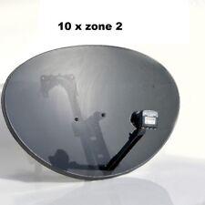 10x Satellite Dish Antenna QUAD LNB Freesat 80cm Hotbird Astra SKY Zone 2