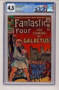 Fantastic Four #48 Kirby, Sinnott Cover First Galactus Silver Surfer CGC 4.5