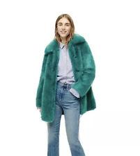 NWT J Crew COLLECTION Faux Fur Super Soft  Coat Sz S Jade $398 J.Crew