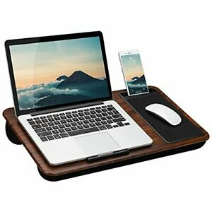 LapGear Home Office Lap Desk with Device Ledge Mouse Pad and Holder - Espress...