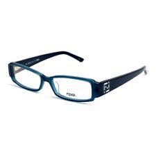 Fendi Eyeglasses Women Petrol Blue Frames Rectangle 50 14 135 F957R 425