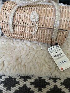 Zara Straw Bag Purse NWT