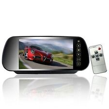 """Monitor specchietto retromarcia auto LCD 7"""" con 2 ingressi video e telecomando"""