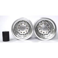 X Spede TTR112R08 Tamiya 1/14 Tractor Truck Silver Aluminum Rear Wheels (2)