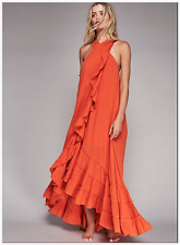 NEW (msrp $118) Free People Endless Summer Wrap Maxi dress  in Coral red sx XS