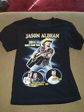 Jason Aldean 2014 Night Train Tour T-Shirt Mens M Medium Black 100% Cotton