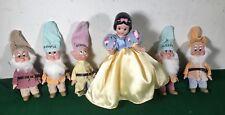 Disney Snow White and Dwarfs Porcelain Doll Set Limited Edition (missing 2)