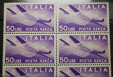 1947 Repubblica Italiana Democratica Posta Aerea  50 Lire  sestina MNH*