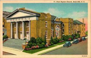 Rock Hill SC First Baptist Church Postcard unused (18414)