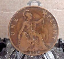 CIRCULATED 1914 1 PENNY UK COIN (31817)1