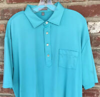 PETER MILLAR SUMMER COMFORT Men's XL Polo Golf Shirt Pocket