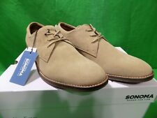 SONOMA Derek Men's Leather Suede Shoes Sand size 8.5 NEW