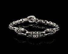 Nightrider Jewelry Royal Mortem Bracelet Silver Skull