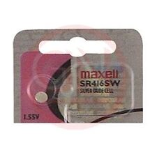 SR416SW/1 MAXELL (337) Silver Oxide Cell 1.55V Button Battery (single pack)