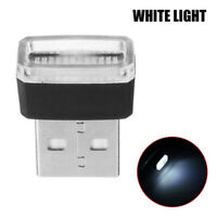 1x White Mini USB LED Wireless Lamp Car Atmosphere Light Neon Accessories