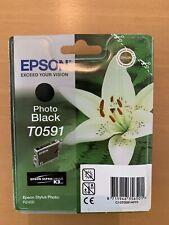 Neu Epson T0591 Photo Black Tinte Patrone