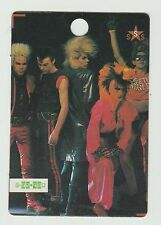 1980s UK Pop Star Card UK Tony James New Wave Band Sigue Sigue Sputnik