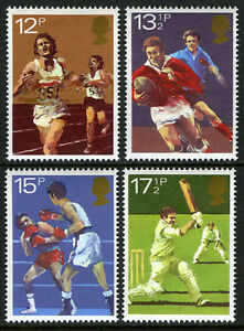 Great Britain 924-927, MLH.Sport Associations.Running,Rugby,Boxing,Cricket,1980