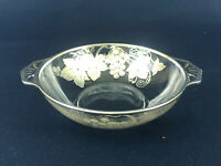 Mid-Century Modern clear glass & sterling silver overlay candy or nut dish 1950s